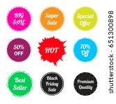 set of sale label or sticker... | Shutterstock .eps vector #651300898