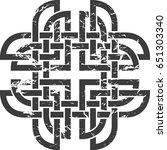 celtic pattern. element of...   Shutterstock .eps vector #651303340