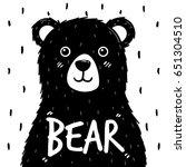 black cute bear vector | Shutterstock .eps vector #651304510
