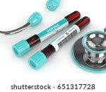 3d rendering of anti doping... | Shutterstock . vector #651317728