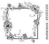 flower frame of butterfly peas... | Shutterstock .eps vector #651321103