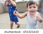 happy siblings playing | Shutterstock . vector #651321610
