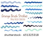 brush stroke wave vector... | Shutterstock .eps vector #651325318