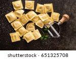 fresh ravioli | Shutterstock . vector #651325708