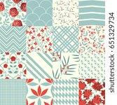 seamless decorative patterns... | Shutterstock .eps vector #651329734