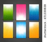 set of 240 x 400 vertical... | Shutterstock .eps vector #651330838