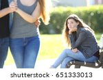 sad single girl seeing an... | Shutterstock . vector #651333013