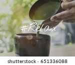 tea break traditional relax... | Shutterstock . vector #651336088