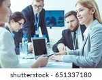 businessmen and businesswomen... | Shutterstock . vector #651337180
