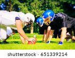 american football players... | Shutterstock . vector #651339214