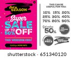 bright pink vertical super sale ... | Shutterstock .eps vector #651340120