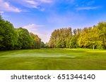 green grass field meadow.... | Shutterstock . vector #651344140