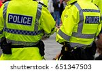 british police officers in high ... | Shutterstock . vector #651347503