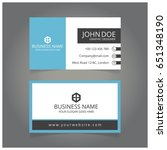 blue and black business card | Shutterstock .eps vector #651348190