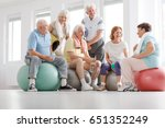 group of active senior people... | Shutterstock . vector #651352249