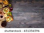 tasty and delicious bruschetta... | Shutterstock . vector #651356596