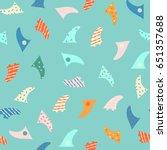 surfboard fin seamless patter... | Shutterstock .eps vector #651357688
