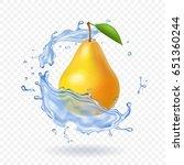 pear realistic. vector fruit... | Shutterstock .eps vector #651360244