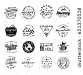 outdoor retro logos bundle.... | Shutterstock .eps vector #651370528
