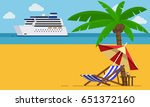 vacation and travel concept.... | Shutterstock .eps vector #651372160