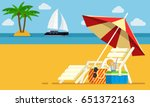 vacation and travel concept.... | Shutterstock .eps vector #651372163