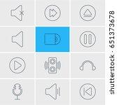vector illustration of 12 music ... | Shutterstock .eps vector #651373678
