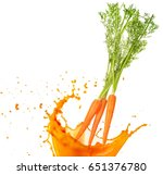 carrots falling into orange... | Shutterstock . vector #651376780