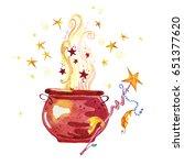 artistic watercolor hand drawn...   Shutterstock . vector #651377620