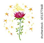 watercolor artistic...   Shutterstock . vector #651377668