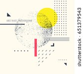 retro abstract geometric... | Shutterstock .eps vector #651379543