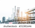close up industrial view at oil ... | Shutterstock . vector #651381646