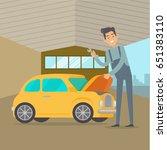 man repair car service...   Shutterstock . vector #651383110