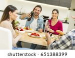 view at young people have a... | Shutterstock . vector #651388399