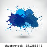colorful paint splatters.paint... | Shutterstock .eps vector #651388846
