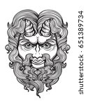 pan. the god of fertility and... | Shutterstock .eps vector #651389734