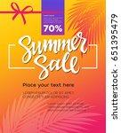 summer sale   vector leaflet ... | Shutterstock .eps vector #651395479
