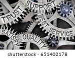 macro photo of tooth wheel... | Shutterstock . vector #651402178