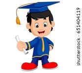 happy boy after graduation   Shutterstock . vector #651404119