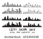 cityscape vector illustration... | Shutterstock .eps vector #651404248
