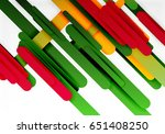 cut 3d paper color straight... | Shutterstock .eps vector #651408250