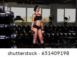 woman doing exercise with...   Shutterstock . vector #651409198