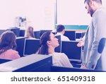 successful supervisor giving...   Shutterstock . vector #651409318