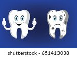 healthy tooth  bad tooth vector ... | Shutterstock .eps vector #651413038