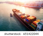 ship for container with working ... | Shutterstock . vector #651422044