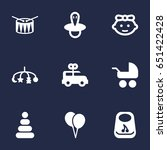 set of 9 baby icons set... | Shutterstock .eps vector #651422428