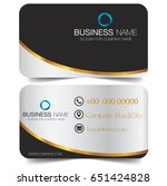 business card with abstract... | Shutterstock .eps vector #651424828