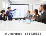 consultant in business workshop ... | Shutterstock . vector #651425896