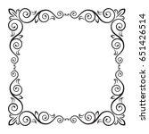ornate square black frame for... | Shutterstock .eps vector #651426514