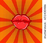 pop art illustration. female... | Shutterstock .eps vector #651430486