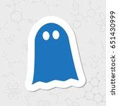vector flat halloween icon.... | Shutterstock .eps vector #651430999